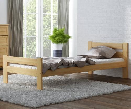 Kenta VitBed fenyő ágy 90x200cm lakkozás nélkül