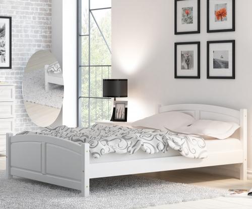 Mela fenyő ágy 140x200 fehér