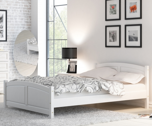 Mela fenyő ágy 160x200 fehér