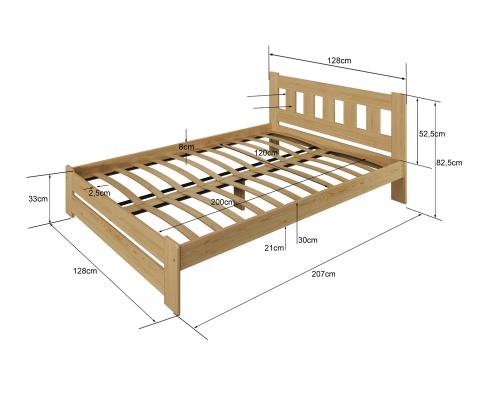 Mila fenyő ágy 120x200