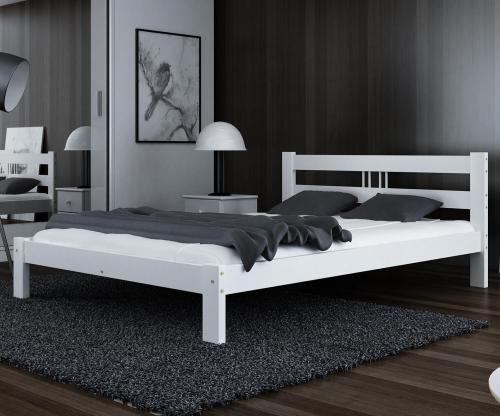 Virginia tömör fehér ágy 140x200