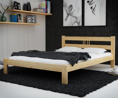 Virginia tömör fenyő ágy  160x200