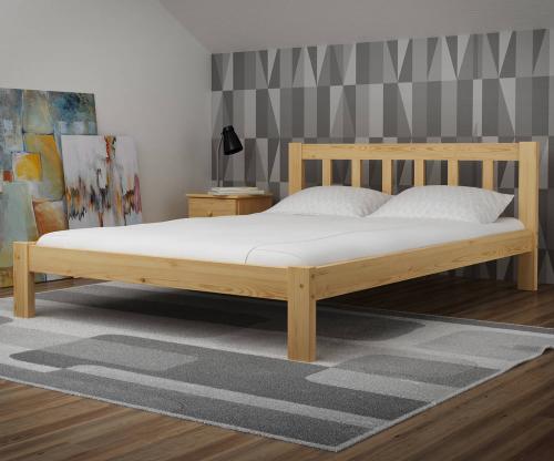 Alena tömör fenyő ágy 140x200