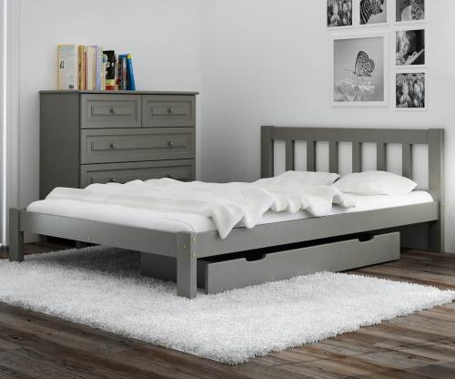 Alena ágy tömör szürke 140x200