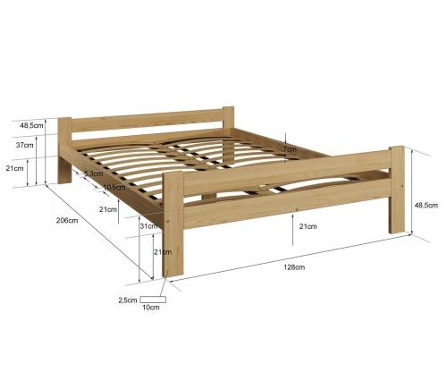 Fumi VitBed fenyő ágy 120x200cm lakkozás nélkül
