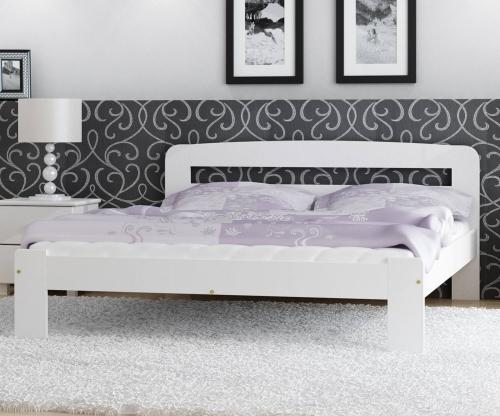 Marcelína ágy 140x200 tömör fenyő fehér