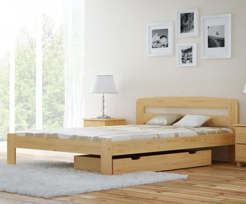 MAGNAT Sara ágy 140x200 ágyráccsal - tömör fenyő