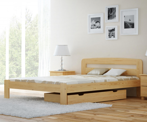 MAGNAT Sara ágy 180x200 ágyráccsal - tömör fenyő