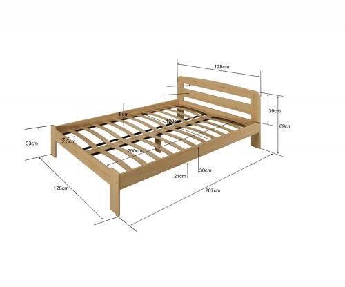 Marcelína ágy 120x200 dió