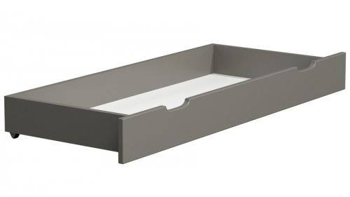 Fenyő ágy alatti tároló 150 cm tömör szürke