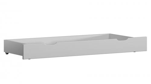 Fenyő ágy alatti tároló 98 cm tömör fehér
