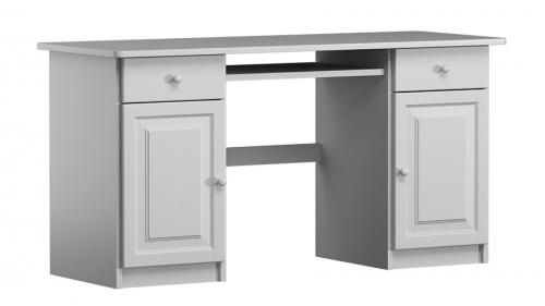 Fehér tömör fenyő íróasztal Thomas mélység 48