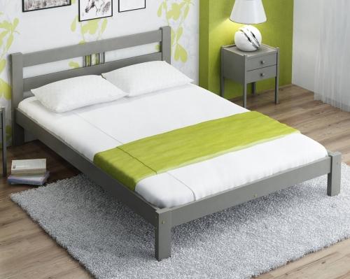 Virginia tömör szürke ágy  160x200