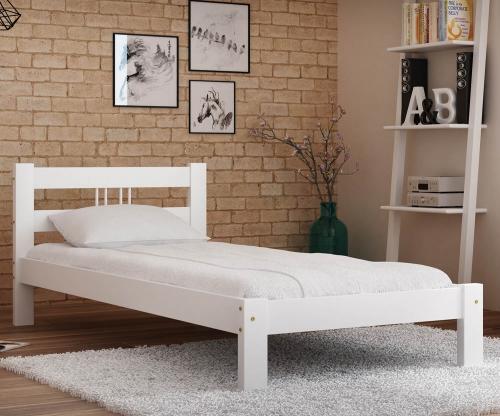 Virginia tömör fehér ágy  90x200