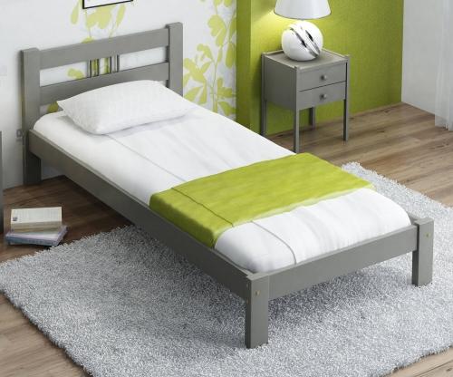 Virginia tömör szürke ágy  90x200